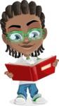 Cute African American Boy Cartoon Vector Character AKA Mason the Cool Boy - Book 1
