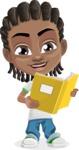 Cute African American Boy Cartoon Vector Character AKA Mason the Cool Boy - Book 2