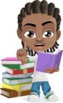 Cute African American Boy Cartoon Vector Character AKA Mason the Cool Boy - Book