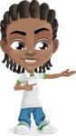 Cute African American Boy Cartoon Vector Character AKA Mason the Cool Boy - Showcase 1