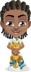Cute African American Boy Cartoon Vector Character AKA Mason the Cool Boy - Kitty