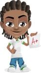 Cute African American Boy Cartoon Vector Character AKA Mason the Cool Boy - Score