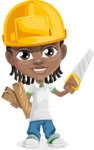 Cute African American Boy Cartoon Vector Character AKA Mason the Cool Boy - Under Construction