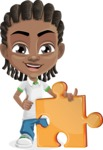 Cute African American Boy Cartoon Vector Character AKA Mason the Cool Boy - Puzzle