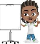 Cute African American Boy Cartoon Vector Character AKA Mason the Cool Boy - Presentation 2