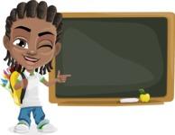Cute African American Boy Cartoon Vector Character AKA Mason the Cool Boy - Presentation 4