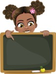 African American School Girl Cartoon Vector Character AKA Anita - Presentation 5