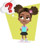 African American School Girl Cartoon Vector Character AKA Anita - Shape 12