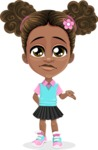 African American School Girl Cartoon Vector Character AKA Anita - Sorry