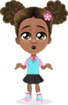 African American School Girl Cartoon Vector Character AKA Anita - Lost