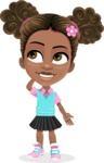 African American School Girl Cartoon Vector Character AKA Anita - Oops