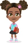 African American School Girl Cartoon Vector Character AKA Anita - Patient