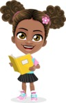 African American School Girl Cartoon Vector Character AKA Anita - Book 2