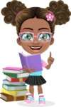 African American School Girl Cartoon Vector Character AKA Anita - Book