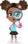 African American School Girl Cartoon Vector Character AKA Anita - Search