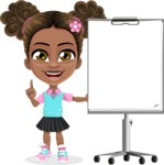 African American School Girl Cartoon Vector Character AKA Anita - Presentation 2