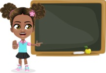 African American School Girl Cartoon Vector Character AKA Anita - Presentation 4