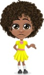 Cute Curly African American Girl Cartoon Vector Character AKA Alana - Sorry