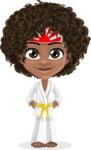 Alana the African American Sunshine - Karate
