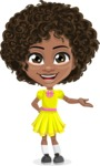 Cute Curly African American Girl Cartoon Vector Character AKA Alana - Showcase 1