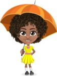 Alana the African American Sunshine - Umbrella