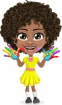 Alana the African American Sunshine - Fingerpainting