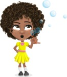 Alana the African American Sunshine - Soap Bubbles