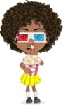 Alana the African American Sunshine - 3D Glasses