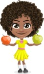 Alana the African American Sunshine - Apples
