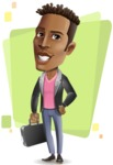 Young African American Man Cartoon Vector Character - Shape5