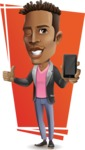Young African American Man Cartoon Vector Character - Shape7