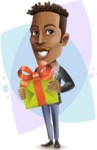 Young African American Man Cartoon Vector Character - Shape8