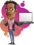 Young African American Man Cartoon Vector Character - Shape9