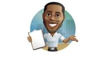 Handsome African American Man Cartoon Vector Character - Shape2