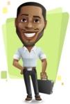 Handsome African American Man Cartoon Vector Character - Shape5
