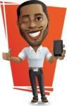 Handsome African American Man Cartoon Vector Character - Shape7