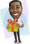 Handsome African American Man Cartoon Vector Character - Shape8
