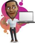 Handsome African American Man Cartoon Vector Character - Shape9