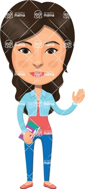 American People Vector Cartoon Graphics Maker - Woman 11