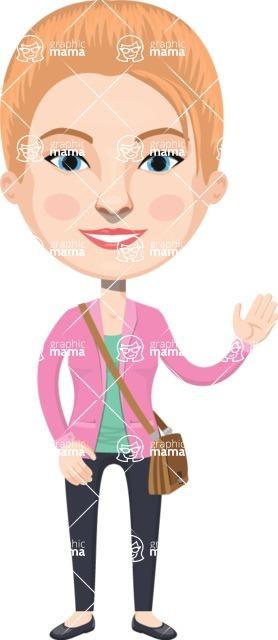 American People Vector Cartoon Graphics Maker - Woman 13
