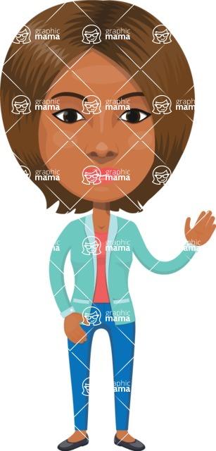 American People Vector Cartoon Graphics Maker - Woman 14