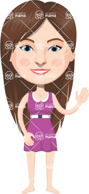 American People Vector Cartoon Graphics Maker - Woman 15