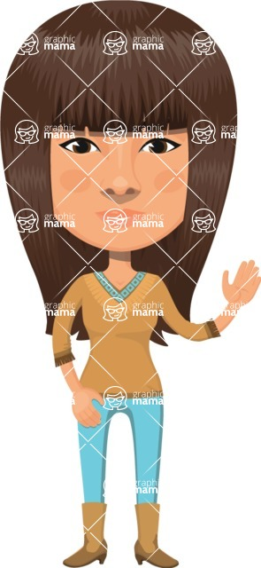 American People Vector Cartoon Graphics Maker - Woman 17