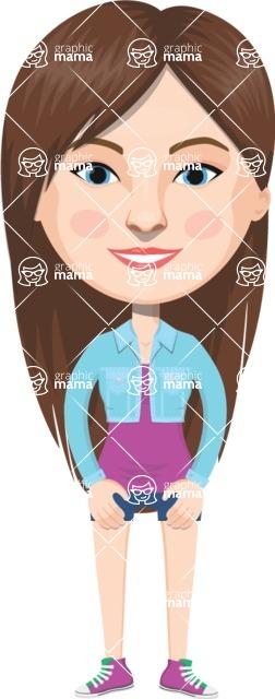 American People Vector Cartoon Graphics Maker - Woman 19