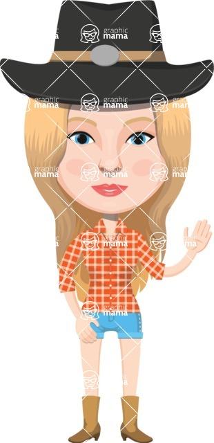 American People Vector Cartoon Graphics Maker - Woman 2