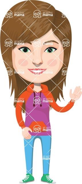 American People Vector Cartoon Graphics Maker - Woman 20