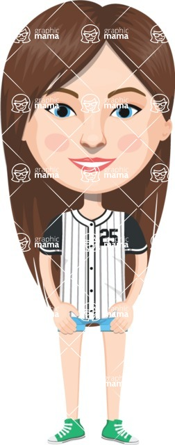 American People Vector Cartoon Graphics Maker - Woman 21