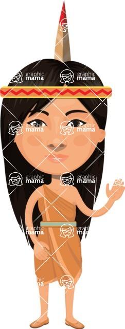 American People Vector Cartoon Graphics Maker - Woman 22