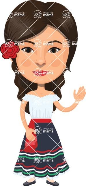American People Vector Cartoon Graphics Maker - Woman 23
