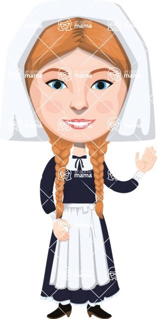 American People Vector Cartoon Graphics Maker - Woman 25